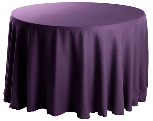 "Premium Faux Burlap 90"" Round Tablecloth"