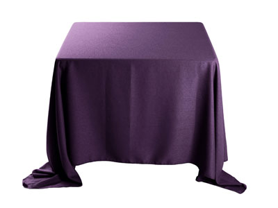 "Faux Burlap 90""x90"" Square Tablecloth"