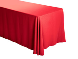 "Premium Faux Burlap 90""x132"" Rectangular Tablecloth – (rounded corners)"