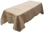 "Rental - Faux Burlap 90""x132"" Rectangular Tablecloth"
