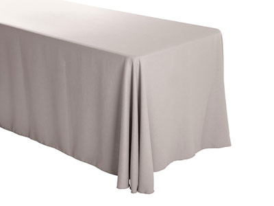 "Premium Faux Burlap 90""x156"" Rectangular Tablecloth – (rounded corners)"