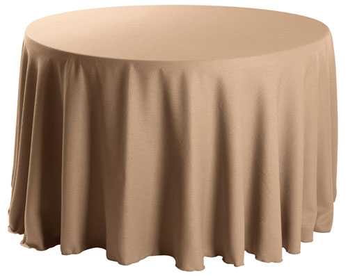 "Premium Faux Burlap 96"" Round Tablecloth"