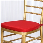 "Tables and Seating Chiavari Chair Cushion - Red 1.75"" Thick"