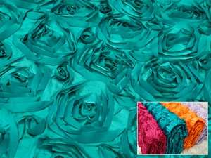 "Grandiose Rosette Fabric Bolts – Turquoise 54""x4yards"