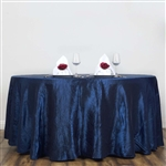 "Navy 117"" Crinkle Taffeta Round Tablecloth"
