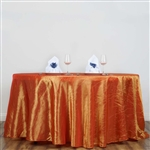 "Orange 117"" Crinkle Taffeta Round Tablecloth"