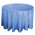 "Periwinkle 117"" Crinkle Taffeta Round Tablecloth"