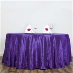 "Purple 117"" Crinkle Taffeta Round Tablecloth"