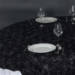 "72""x72"" Grandiose Rosette Table Overlays - Black"