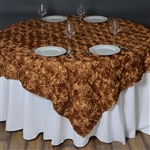 "72""x72"" Grandiose Rosette Table Overlays - Gold"