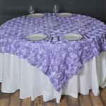 "72""x72"" Grandiose Rosette Table Overlays - Lavender"
