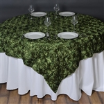 "72""x72"" Grandiose Rosette Table Overlays - Willow Green"