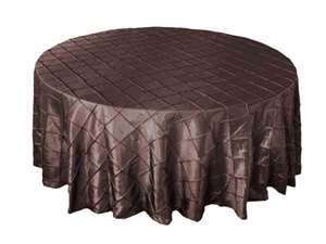 "132"" Round Tablecloth Pintuck - Chocolate"