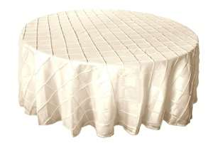 "132"" Round Tablecloth Pintuck - Ivory"