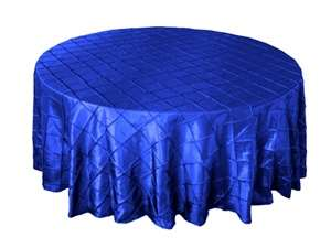 "132"" Round Tablecloth Pintuck - Royal Blue"
