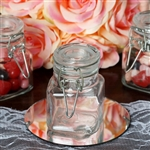Wholesale Clear Square Mason Glass Jars for Candy Beverage with Clear Lid - Pack of 12