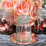 Wholesale Clear Hexagon Glass Jars for Candy Beverage Favor with Flip Lid - Pack of 12