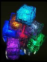 Vibrant Submersible Recreation Lights Ice Cube LED 12/pk (Assorted)