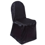 Chair Covers (Banquet) - Satin Black