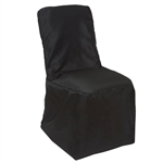 Square Banquet / Chivari Chair Cover - Black