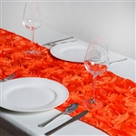 Grandiose Rosette Table Runners – Orange