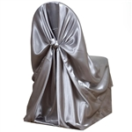 Universal Satin Chair Cover - Silver