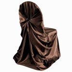 Universal Satin Chair Cover - Chocolate