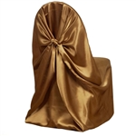 Universal Satin Chair Cover - Gold