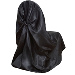 Universal Satin Chair Cover - Black