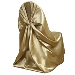 Universal Satin Chair Cover - Champagne