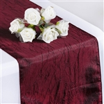 Crinkle Taffeta Table Runner - Burgundy