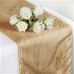 Crinkle Taffeta Table Runner - Champagne