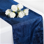 Crinkle Taffeta Table Runner - Navy Blue