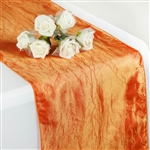 Crinkle Taffeta Table Runner - Orange