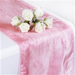 Crinkle Taffeta Table Runner - Pink