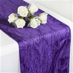 Crinkle Taffeta Table Runner - Purple