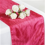 Crinkle Taffeta Table Runner - Fushia