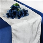 Crinkle Taffeta Table Runner - Ivory
