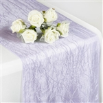 Crinkle Taffeta Table Runner - Lavender