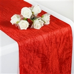 Crinkle Taffeta Table Runner - Red