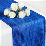Crinkle Taffeta Table Runner - Royal Blue
