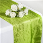 Crinkle Taffeta Table Runner - Sage Green
