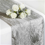 Crinkle Taffeta Table Runner - Silver