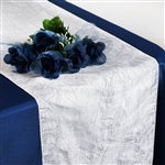 Crinkle Taffeta Table Runner - White