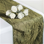 Crinkle Taffeta Table Runner - Willow Green