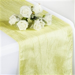 Crinkle Taffeta Table Runner - Yellow
