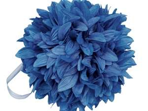 4 x ALWAYS CLOUD 9 Kissing Balls - Royal Blue Dahlias