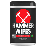 Hammer Antibacterial Wipes - 70 Count Canisters - Pack of 24