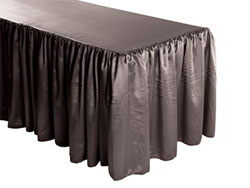 Herringbone Polyester Shirred Table Skirt - 6FT  (4 Sides Covered) - 17FT Section
