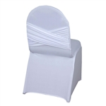 Madrid Banquet Chair Cover - White
